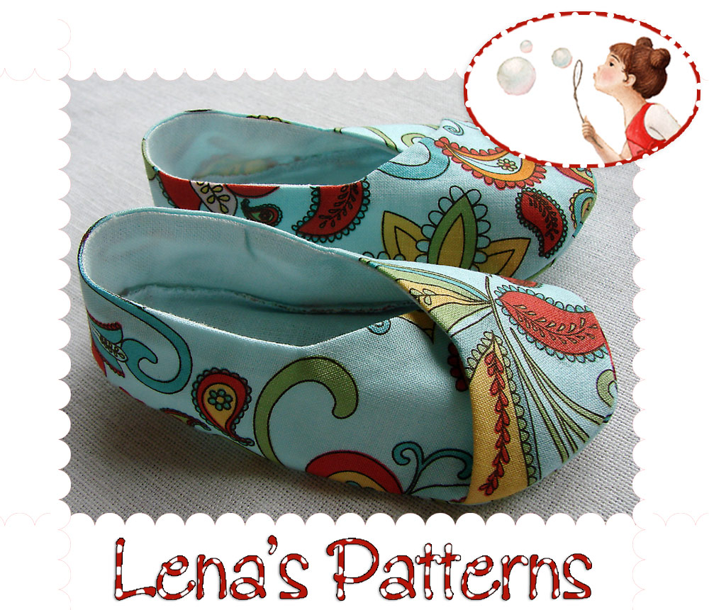 Kimono Baby Shoes {Free Pattern} | Use this tutorial and free PDF pattern to make these adorable kimono baby shoes for a month old. Great for a baby shower gift, or to give after the baby is born. View This Tutorial ** Update ** This is such a popular free pattern that it's been changed a few.