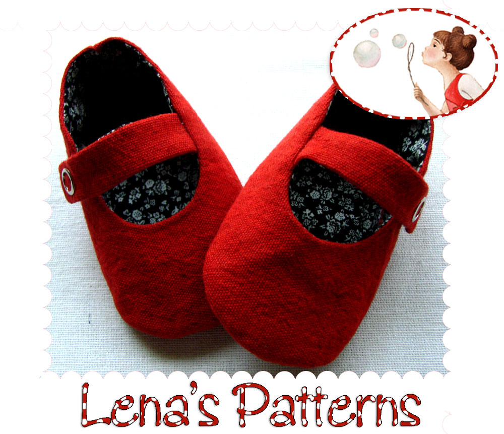 Red Baby Mary Jane Shoes sewing pattern and tutorial