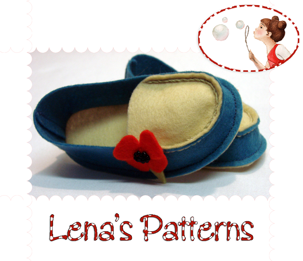 Baby Wool Felt Mocs sewing pattern