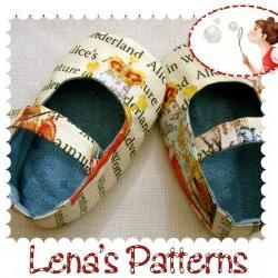 Sewing Pattern - Alice Baby Shoes for Wonderland walk
