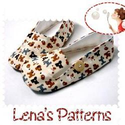 Easy Sewing Pattern for Child&#039;s Loafer Shoes - PDF sewing pattern